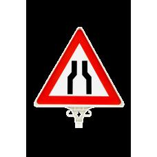 Her İki Taraftan Daralan Yol Uyarı Levhası TEK YÖN UT 2801