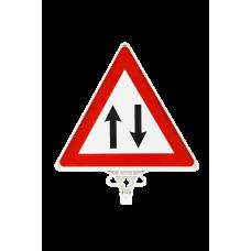 İki Yönlü Trafik Uyarı Levhası ÇİFT YÖN UT 2804