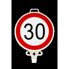 Azami Hız Sınırlaması 30 KM Uyarı Levhası TEK YÖN UT 2907