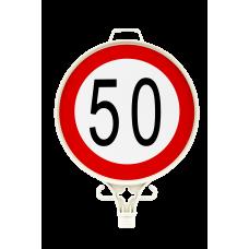 Azami Hız Sınırlaması 50 KM Uyarı Levhası TEK YÖN UT 2908