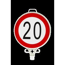 Azami Hız Sınırlaması 20 KM Uyarı Levhası TEK YÖN UT 2912
